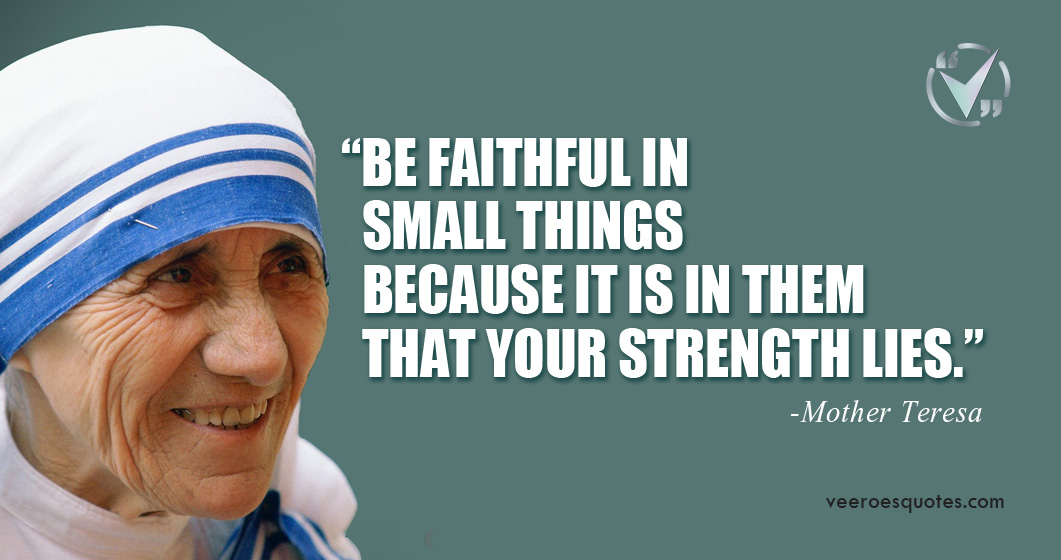 faithful in small things