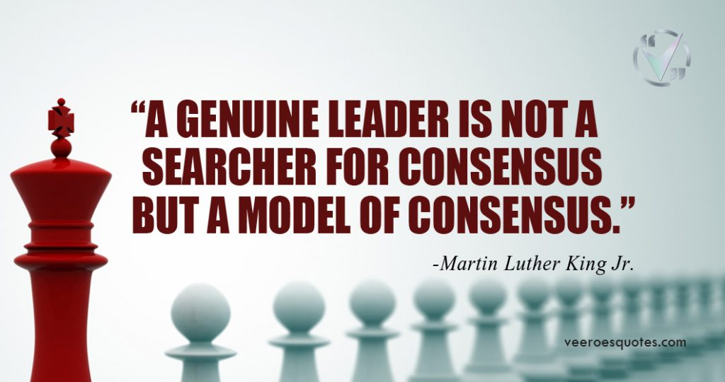 a genuine leader is