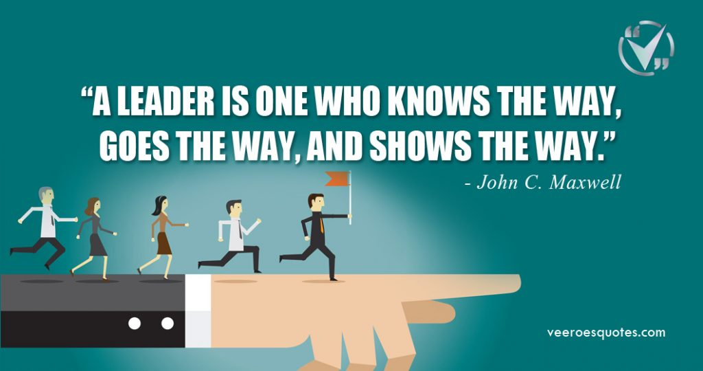 a leader is one who