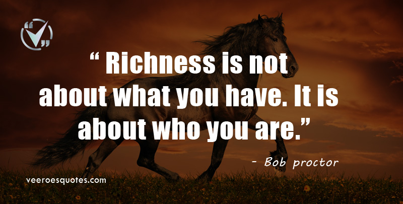 richness is not about