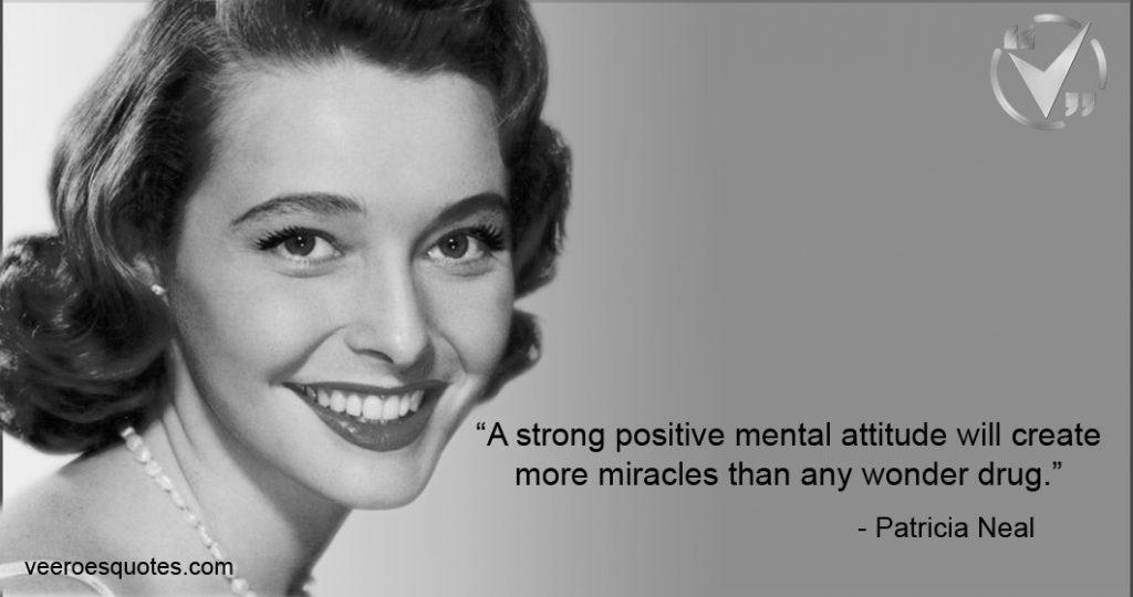 strong positive mental attitude