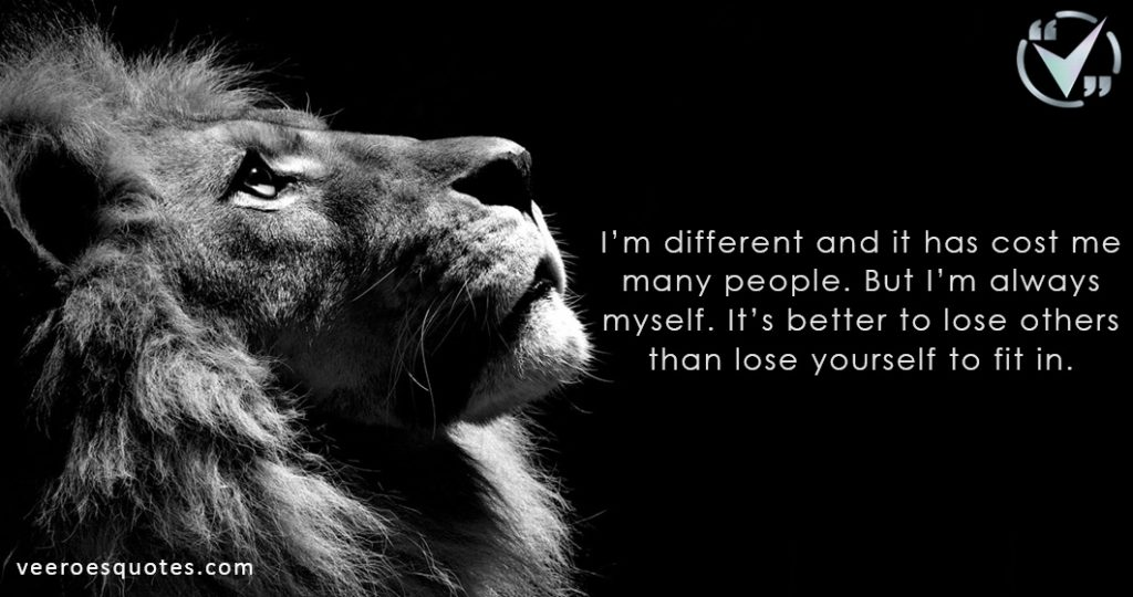 I'm different and it