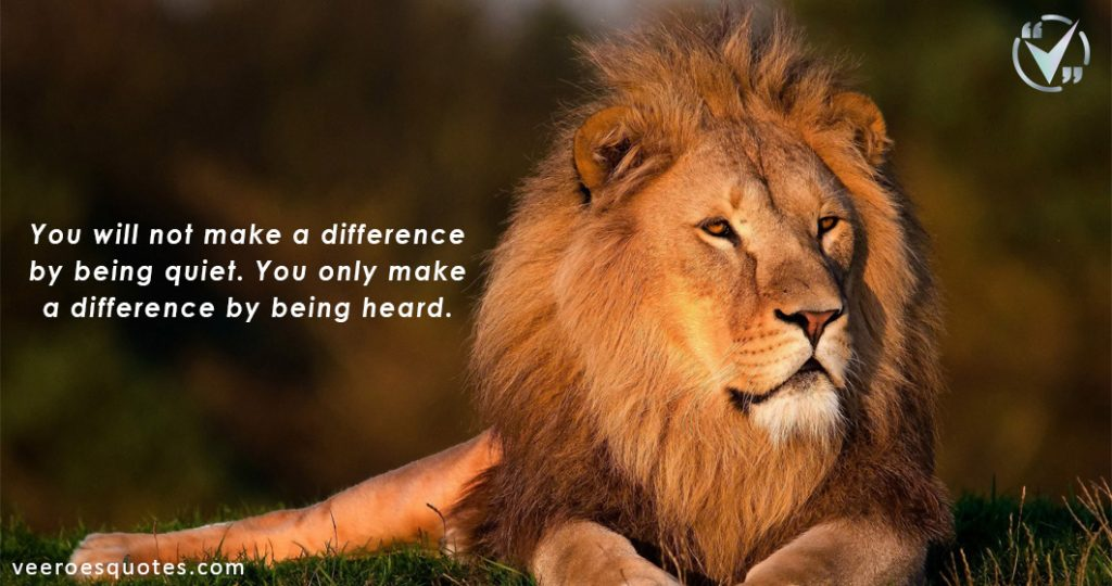 you will not make a difference