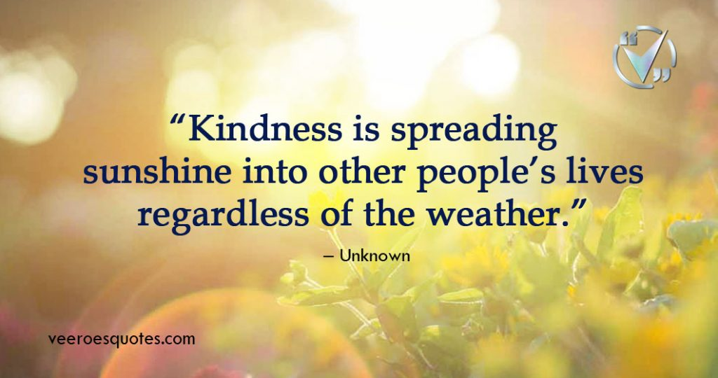 Kindness is Spreading Sunshine
