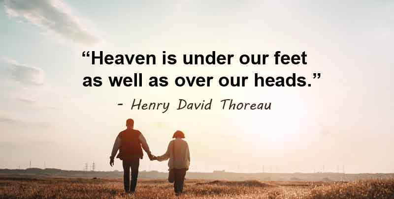 heaven is under our feet