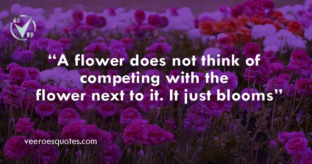 a flower does not think