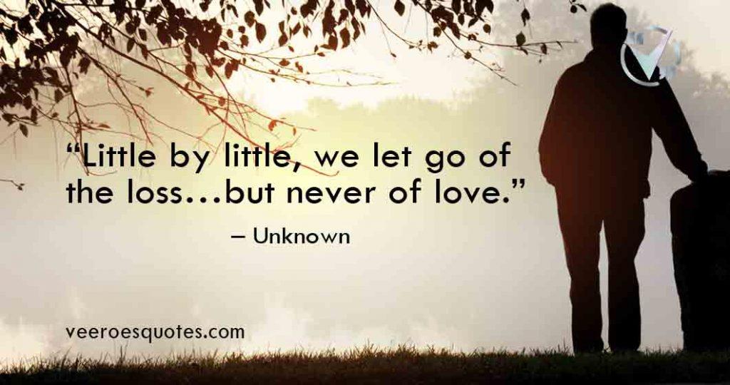 little by little we let