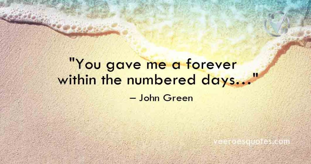 you gave me a forever