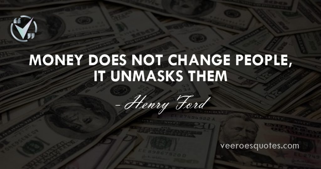 money does not change