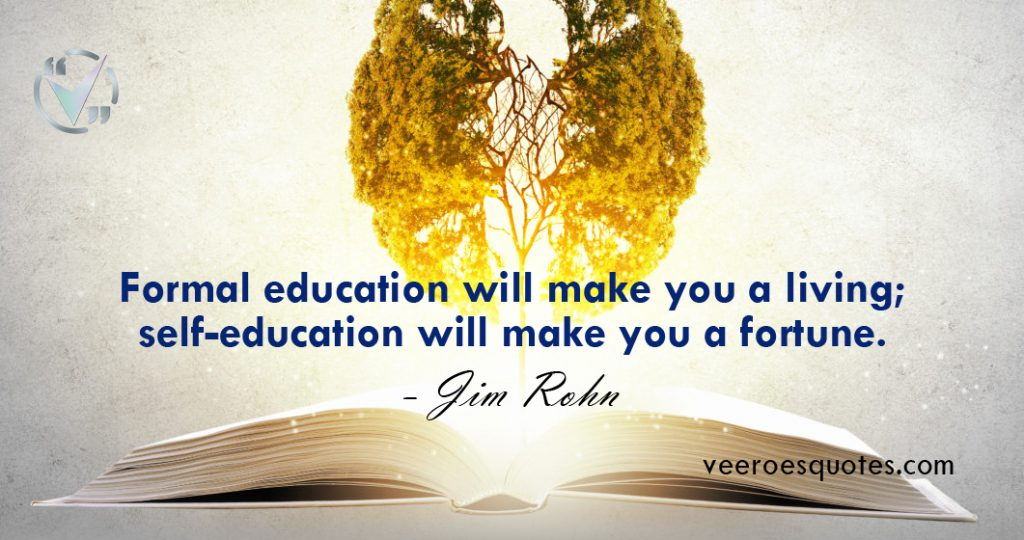 formal education will make