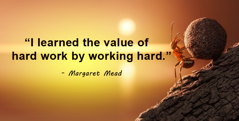 value of hard work
