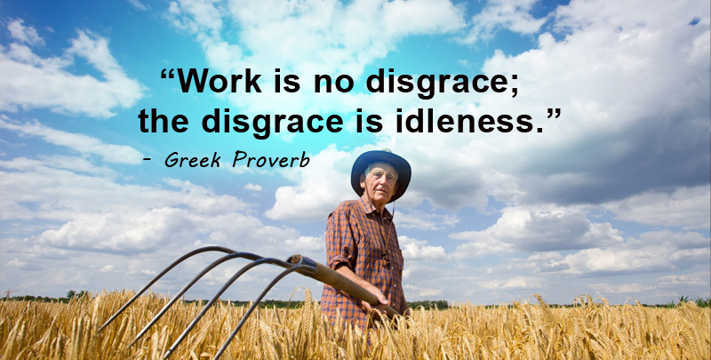 work is no disgrace