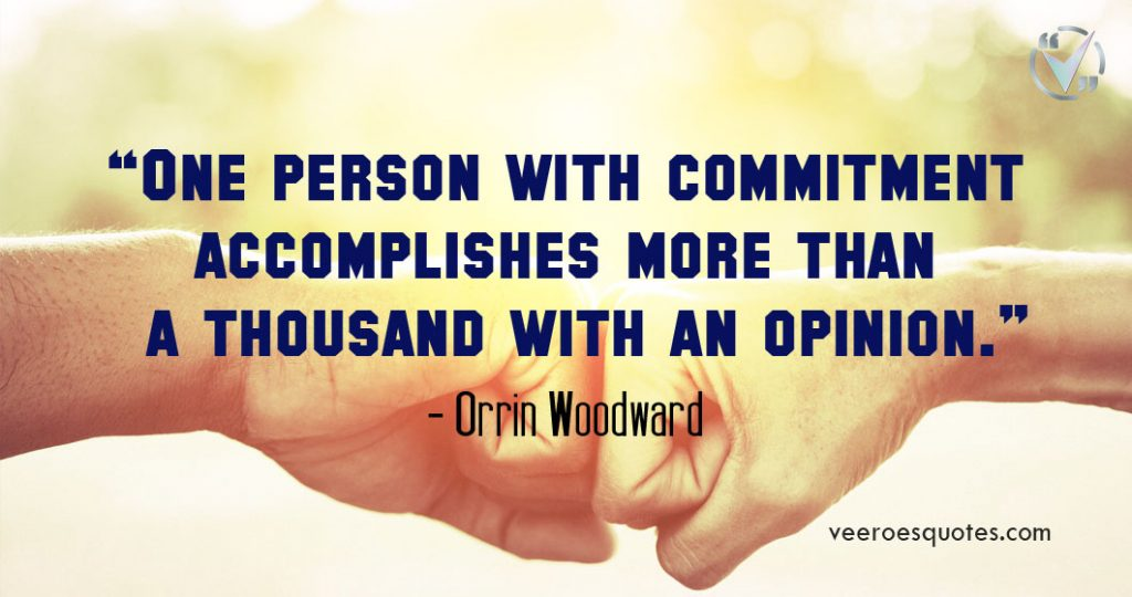 one person with commitment