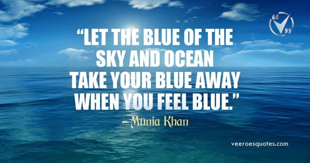 blue of the sky and ocean
