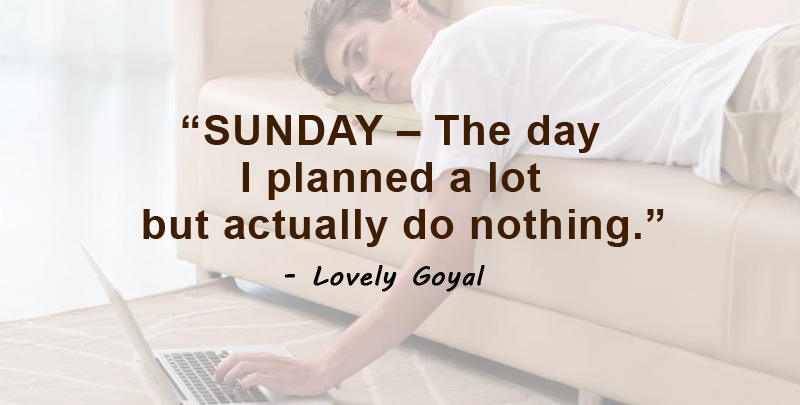 sunday the day i planned