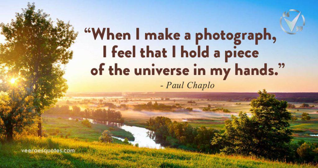 I make a photograph