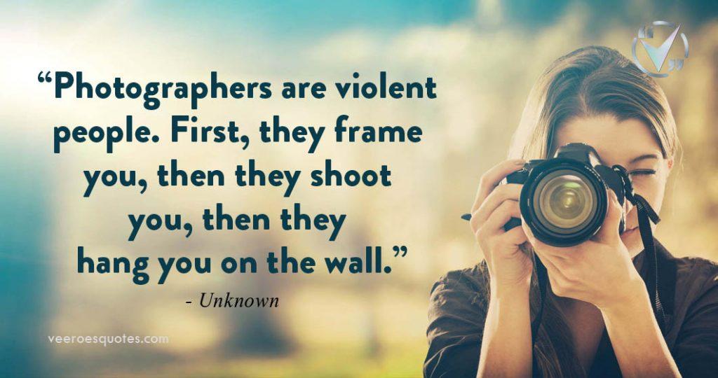photographers are violent