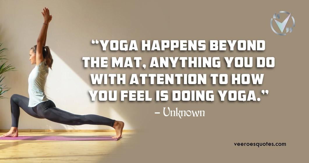 yoga happens beyond the mat