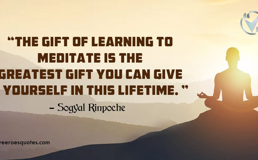 gift of learning to meditate