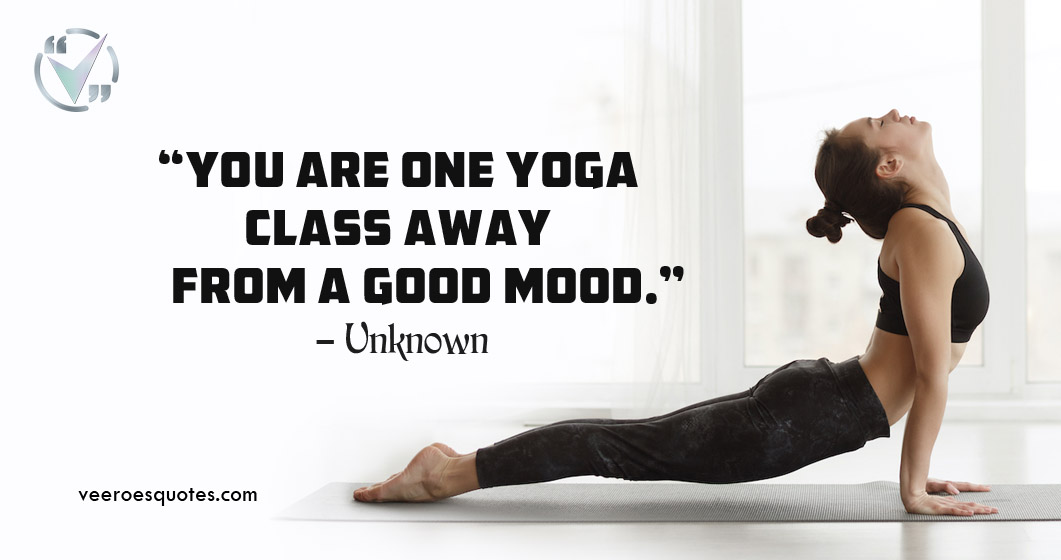 Yoga Class away from a Good Mood