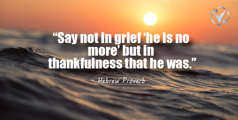 say not in grief