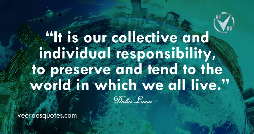 our collective and individual responsibility