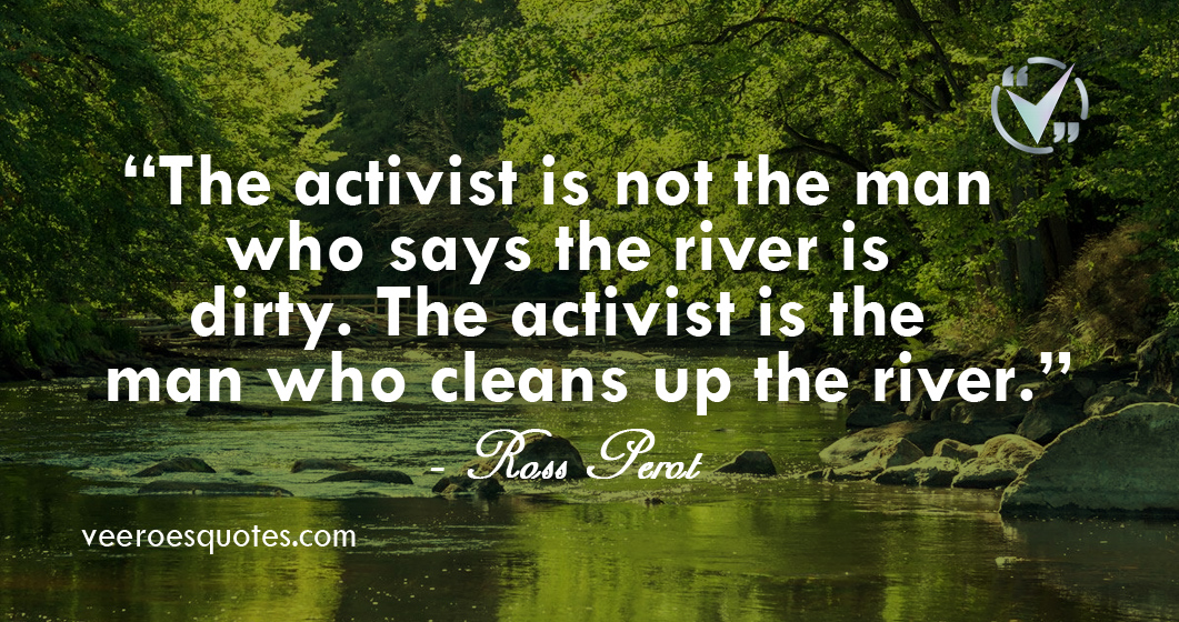 the activist is not the man