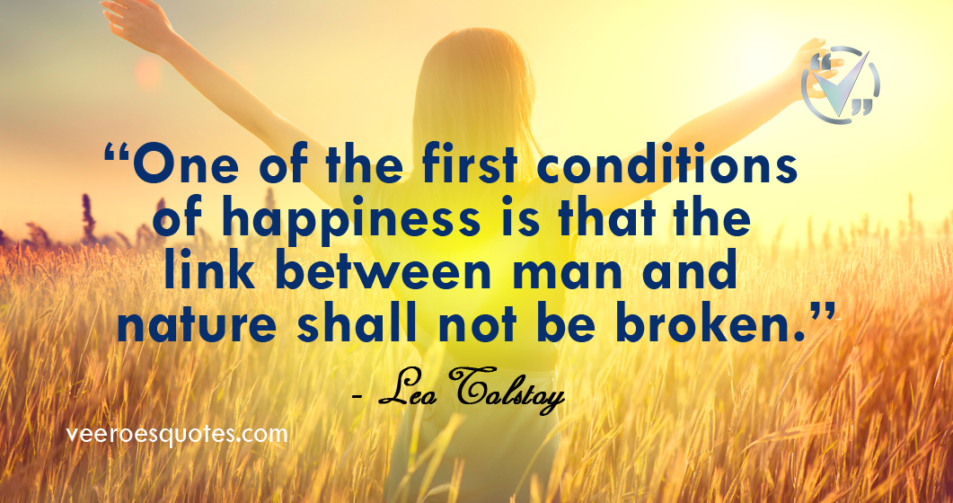 first conditions of happiness