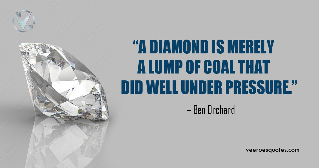 a diamond is merely