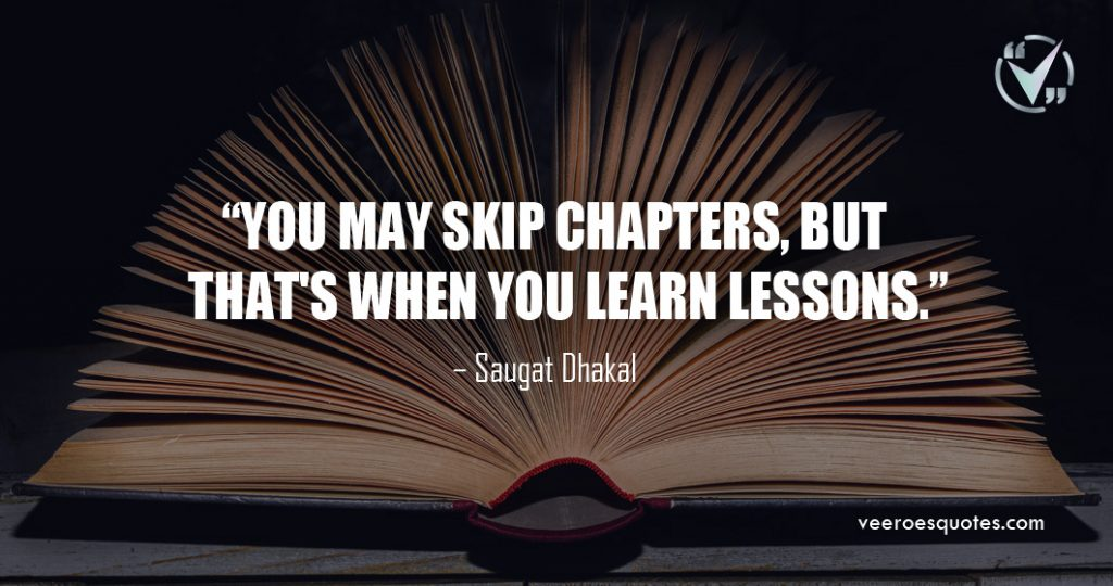 you may skip chapters