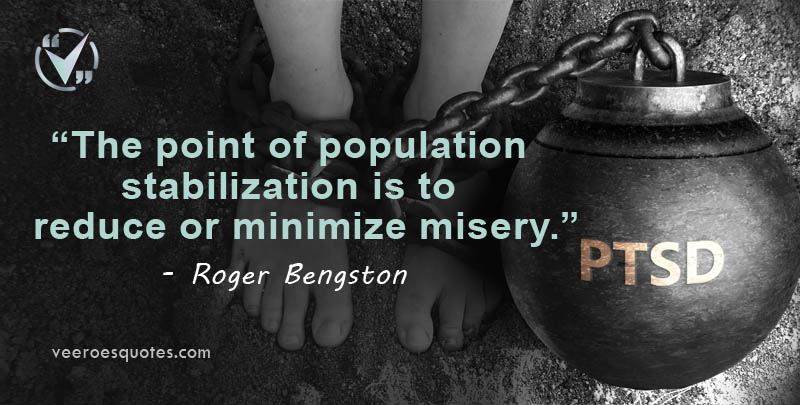 the point of population stabilization