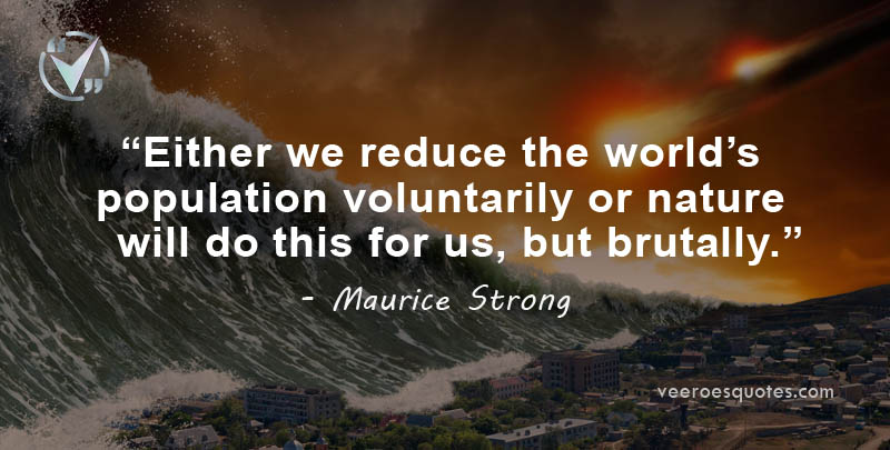 we reduce the world's population
