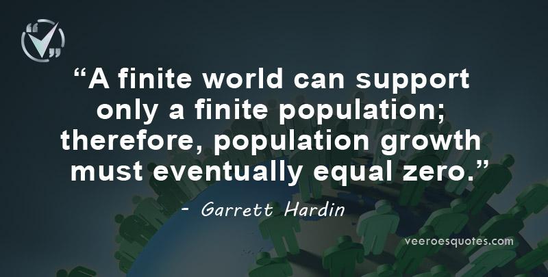 finite world can support finite population