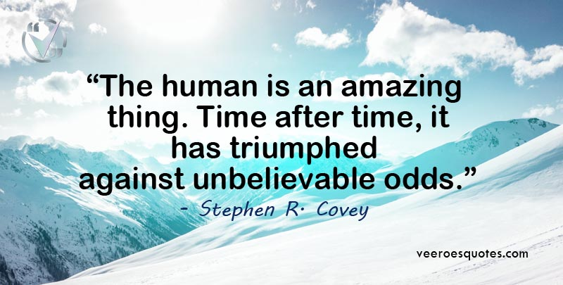 human is an amazing thing
