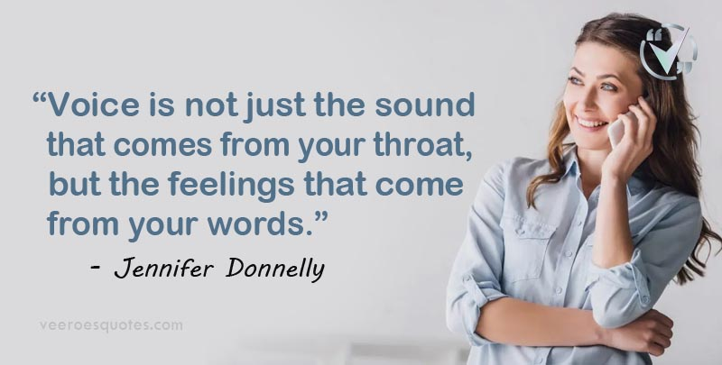 voice is not just the sound