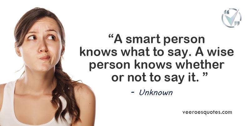 smart person knows